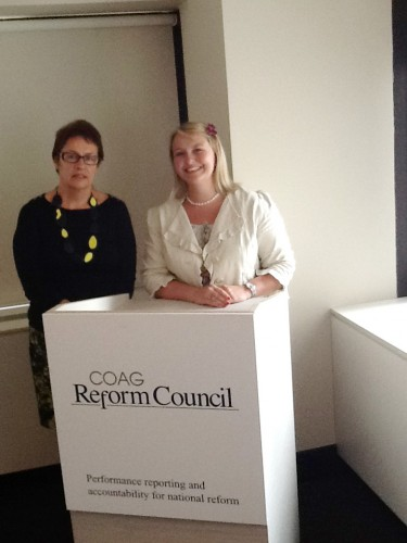 With Michelle Wheeler, Director of COAG Reform Council